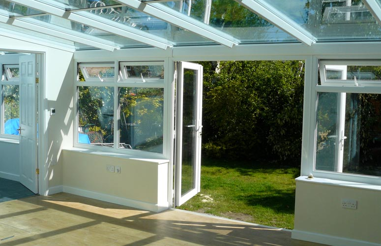 Conservatory and laminate floor
