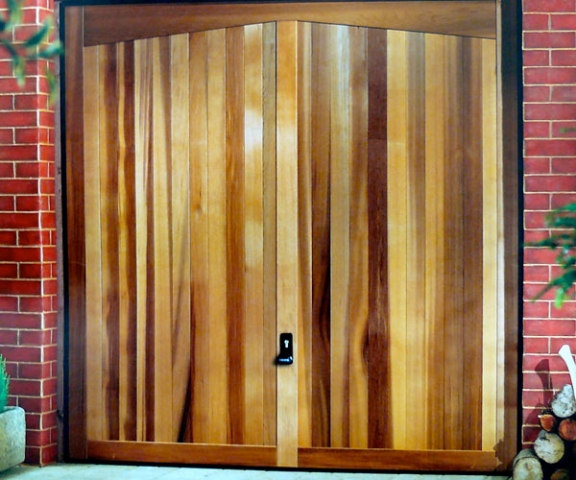 Wood effect garage door.