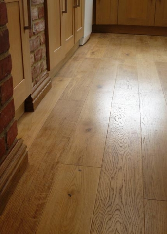 Solid oak flooring.