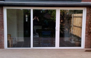 Patio UPVC doors.