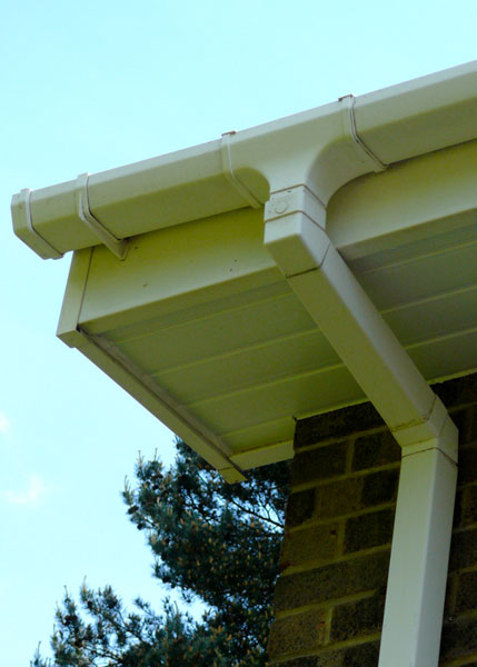 White square gutter.