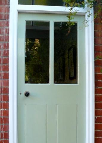 Timber door.