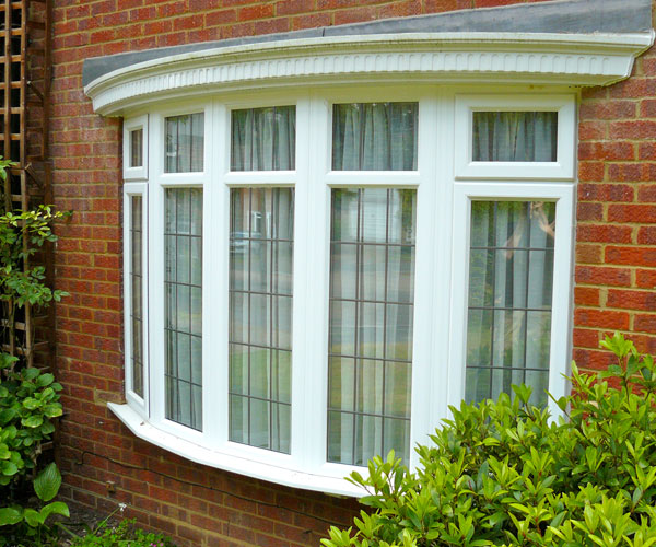 uPVC leaded bay window