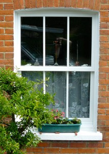 uPVC vertical sash window