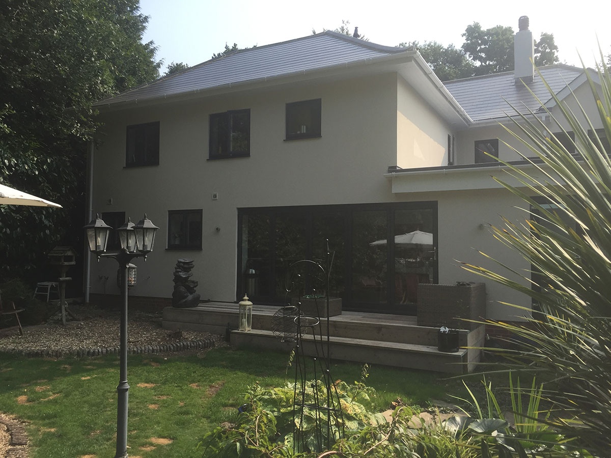 Anthracite grey bi-folding windows
